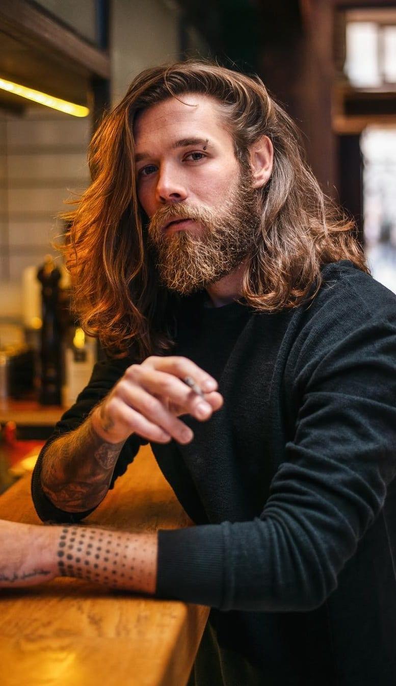 Pleasing Long Hair Beard Look For Men Mens Hairstyle 2020 Natural Hairstyles Runnerswayorg