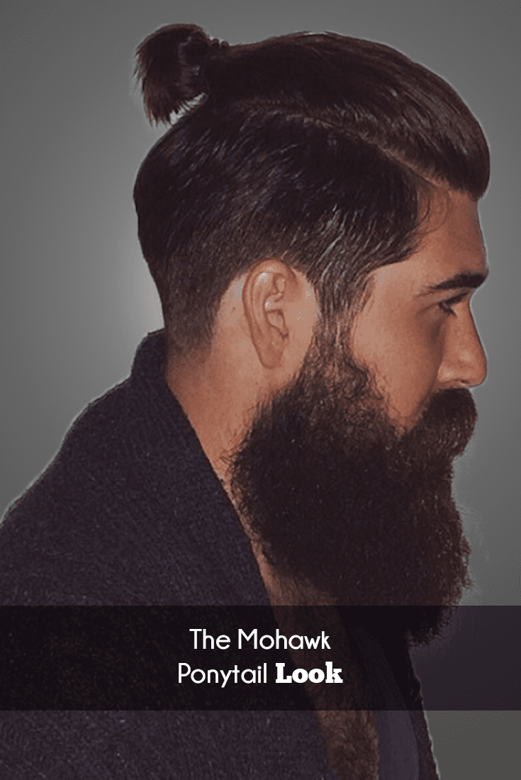 mohawk ponytail hairstyle images & pictures for men