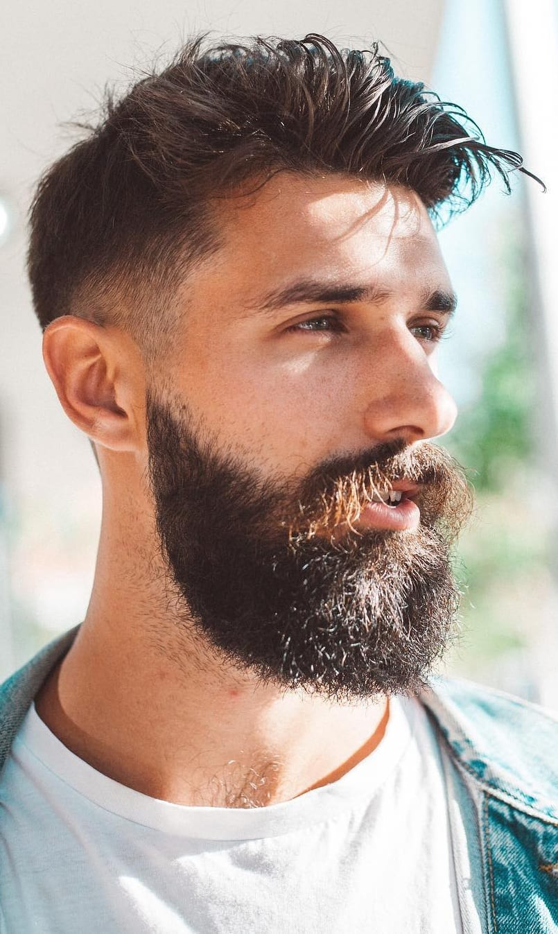 Fade Haircut Beard Moustache Combination Guide For Men Mens Hairstyle 2020